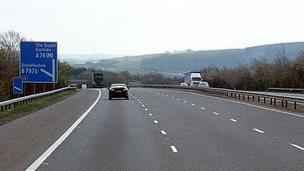 A74(M) near Ecclefechan