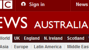 BBC News Australia index