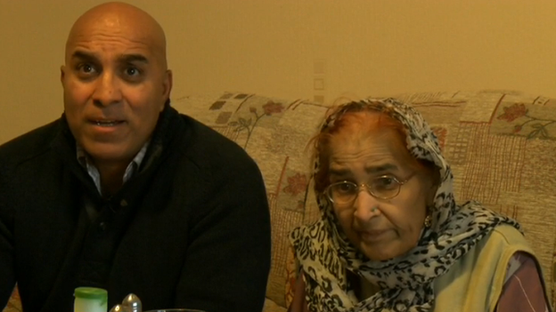 Saleema Begum (right) has dementia and her son Saeed Anwar (left) explained the challenges they face