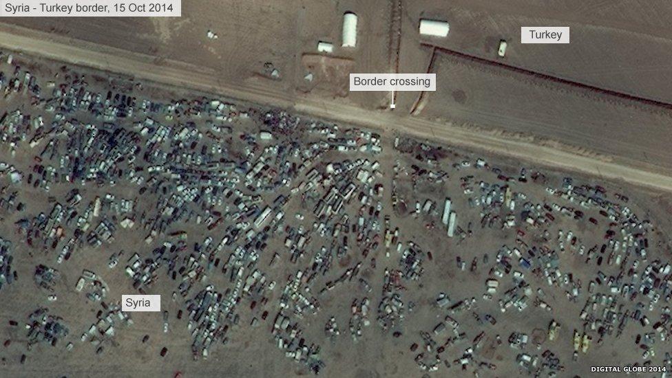 Syria border crossing