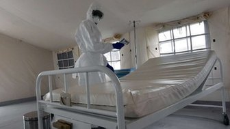 A treatment centre set up to receive Ebola patients in Ivory Coast