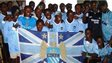 Manchester City Sierra Leone in their team kit