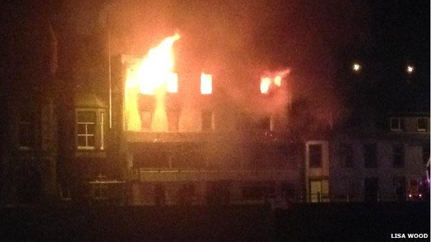 Fire at Highland Haven Hotel, Macduff