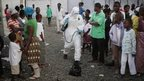 Ebola treatment centre in Monrovia, Liberia, 30 September