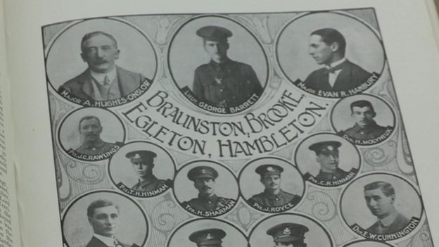 Rutland and the Great War book includes pictures of every man and woman from the county killed in the war