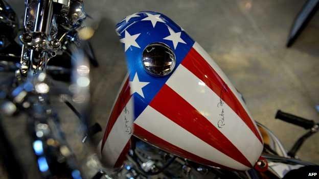 Easy Rider bike with Peter Fonda signature