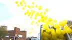 Balloon release for Alan Henning