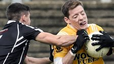 Action from the Kilcoo versus Clontibret match
