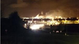 Didcot B Power Station on fire