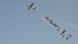Hercules C130 dropping supplies (FILE PHOTO)