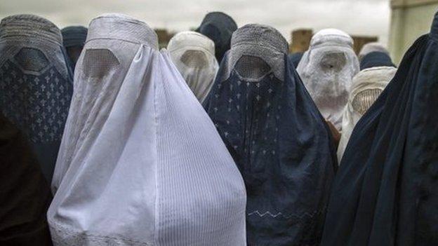 Women wearing burkas in Afghanistan (file image)