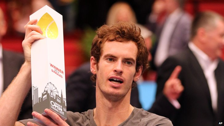 Andy Murray following his Vienna Open title