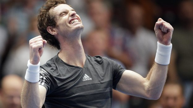 Andy Murray celebrating win