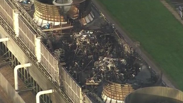Didcot B Power Station damage