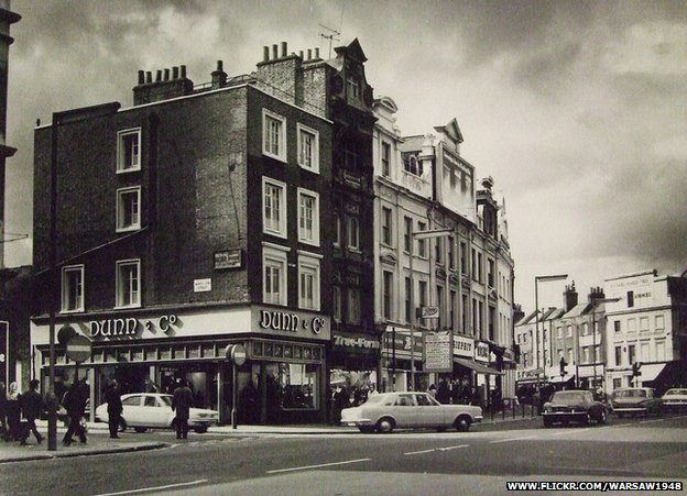 Corner of White Lion Street and Angel, Islington, 1972
