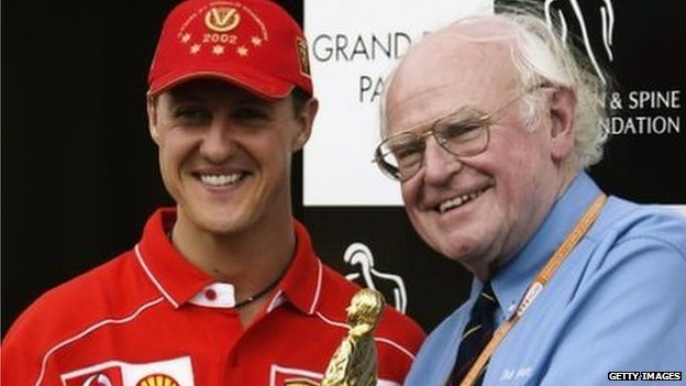 Sid Watkins with Michael Schumacher