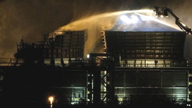 Didcot power station fire