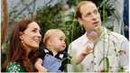 The Duke and Duchess of Cambridge with baby Prince George