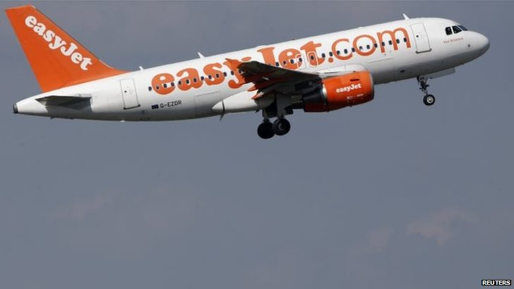 An easyJet aircraft takes-off
