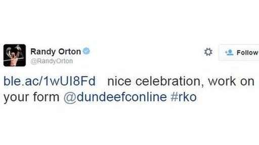 Randy Orton tweet