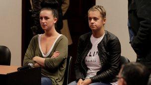 Michaella McCollum Connolly and Melissa Reid in court in Callao on 21 August 2013