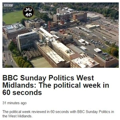 BBC Sunday Politics West Midlands: The political week in 60 seconds