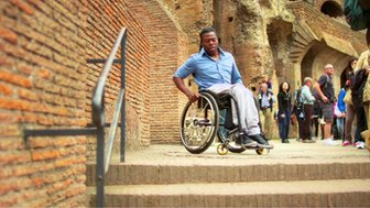 Ade Adepitan at the Colosseum