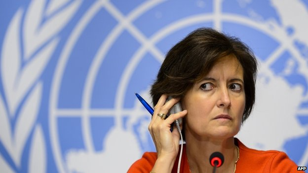 Dr Isabelle Nuttall, WHO Director of Global Capacities, Alert and Response in Geneva. 16 Oct 2014