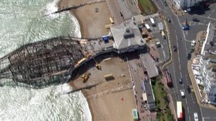 Eastbourne pier from the sky
