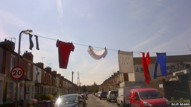Grandmother Giant's washing line