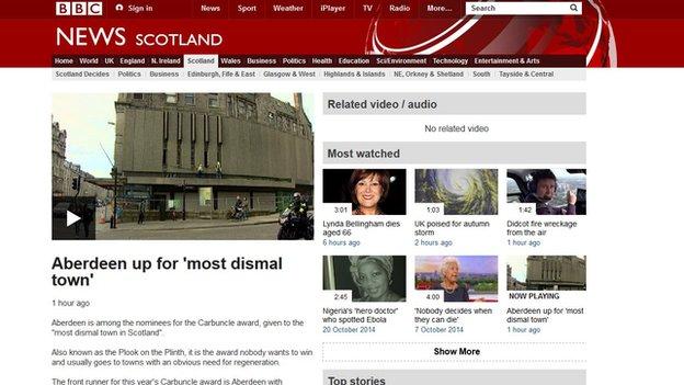BBC Scotland web page