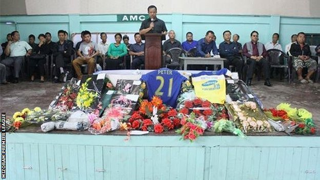 Tributes are paid to Peter Biaksangzuala
