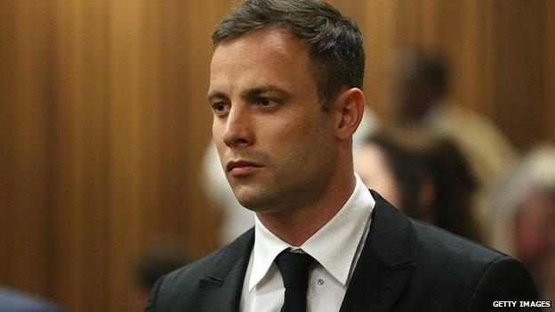 Oscar Pistorius attends his sentencing hearing in the Pretoria High Court in Pretoria, South Africa, 16 October 2014