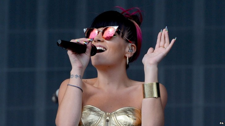 Lily Allen performs at Radio 1's Big Weekend