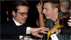 Brad Pitt meets his fans at the London premiere of Fury