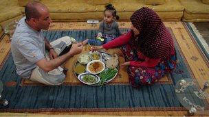 Woman, Yemen, Food