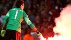 Uefa drop Arsenal flare charges