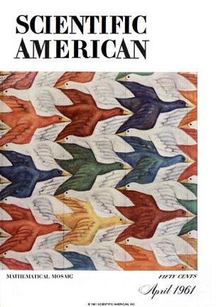 Scientific American cover with Escher artwork