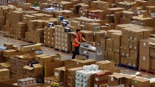 Amazon distribution centre in Swansea