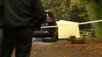 Murder scene in Rowhill Road