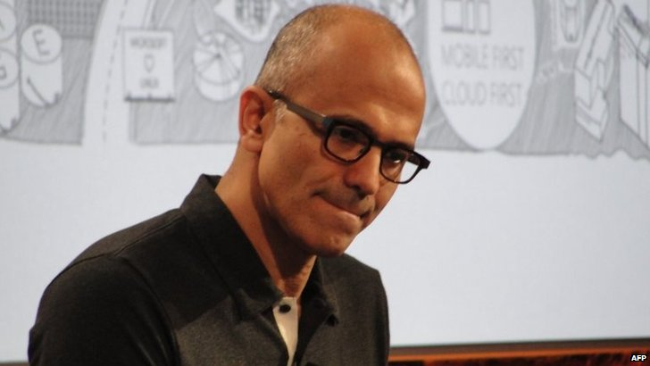 "Microsoft chief executive Satya Nadella says he has been ""humbled"" after suggesting women trust karma i"