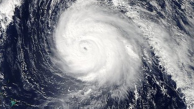 "NASA""s Aqua satellite image of Hurricane Gonzalo"