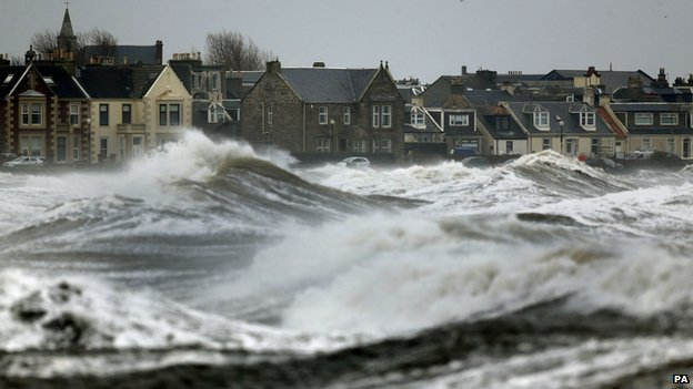 High waves at Ardrossan