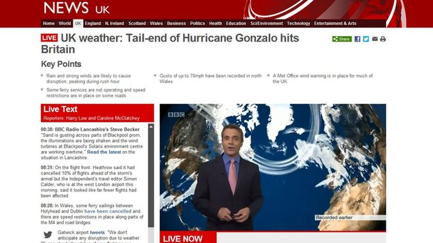 UK storms live page