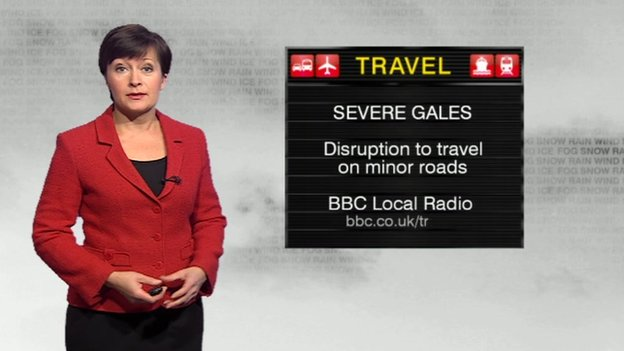 Sara Blizzard shows us there is a yellow warning about the winds from the Met Office