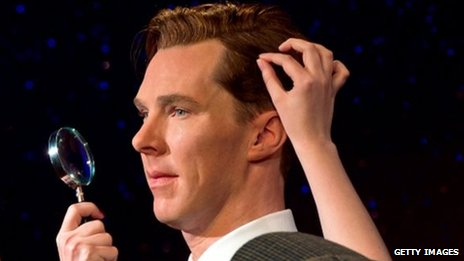 Waxwork of Benedict Cumberbatch