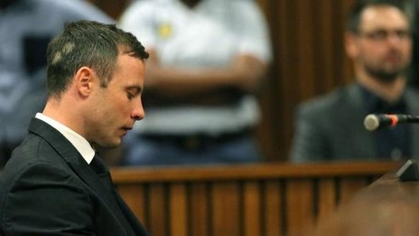 Oscar Pistorius arrives at the Pretoria High Court, 21 Oct