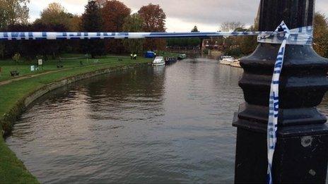 Police tape in Abingdon