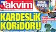 Front page of Turkish tabloid newspaper Tavkim