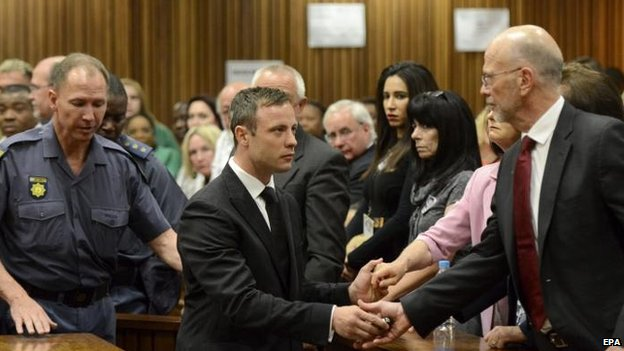 Oscar Pistorius at the Pretoria High Court, 21 Oct